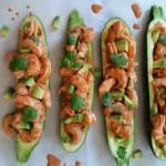 Creamy Shrimp Enchilada Zucchini http://cleanfoodcrush.com/creamy-shrimp-enchilada-zucchini/