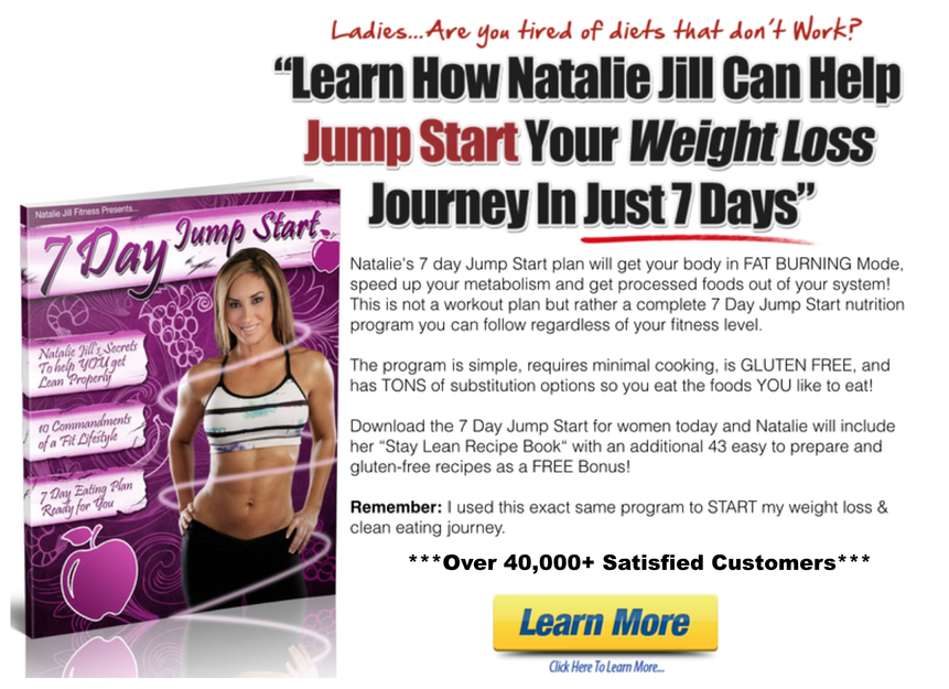 Natalie Jill Rachel Maser 7 Day Jump Star Clean Eating Workout Plan