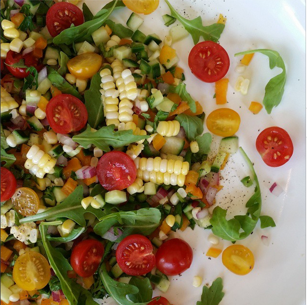 Fresh Corn Salad | Clean Food Crush