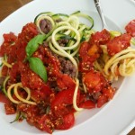 Fresh Tomato Sauce with zucchini noodles recippe