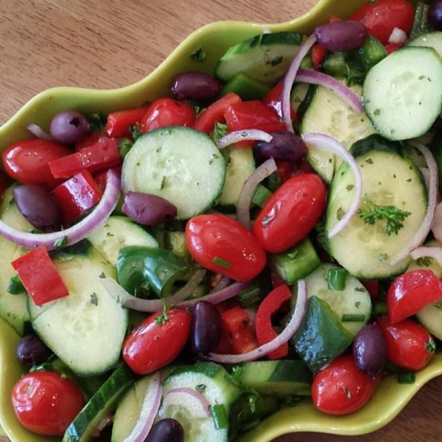 chopped greek salad cleanfoodcrush clean food salad recipe