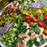 Clean Shrimp and Corn Salad with Homemade Dressing