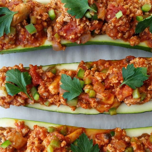 Stuffed Zucchini - Italian Style Recipe