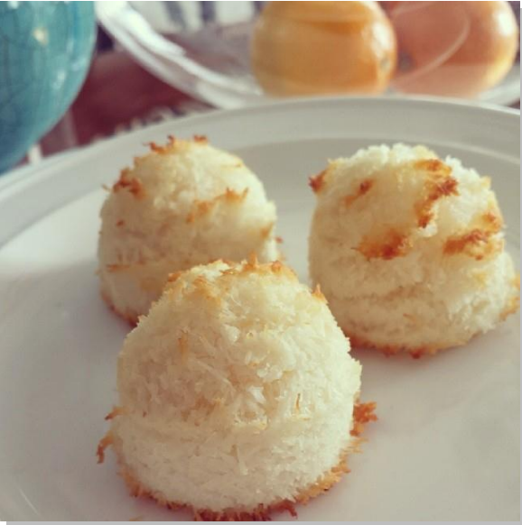 Sweet Meyer Lemon Coconut Macaroon Cookies