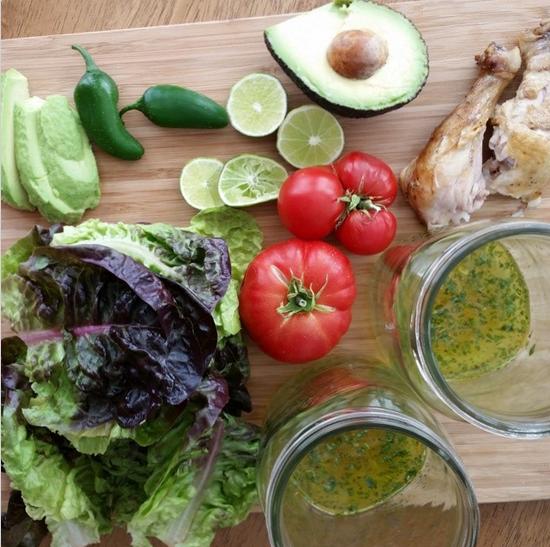 homemade salad in a jar recipe