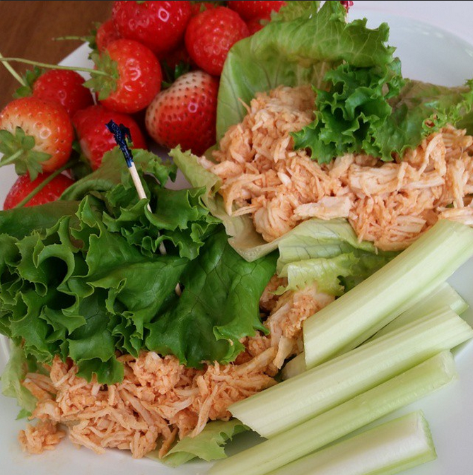 Pulled Buffalo Chicken Wraps Recipe
