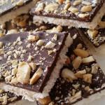 Clean Chocolate Coconut Cashew Crunch Bars