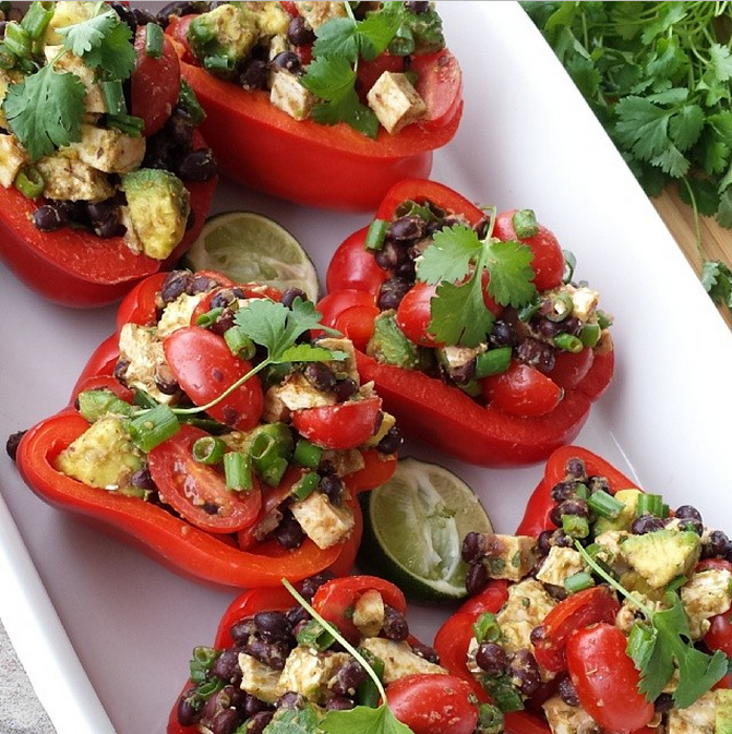 Fiesta Stuffed Bell Peppers Clean Food Crush