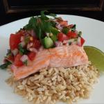 Healthy Fiesta Salmon Filets