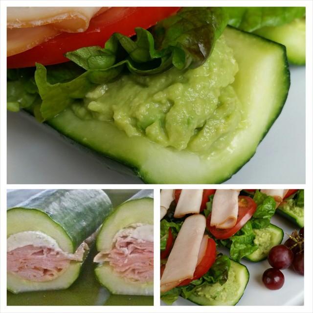 Submarine Sandwiches on English Cucumber