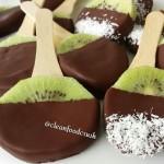 Frozen Kiwi Chocolate Pops Clean Snacks