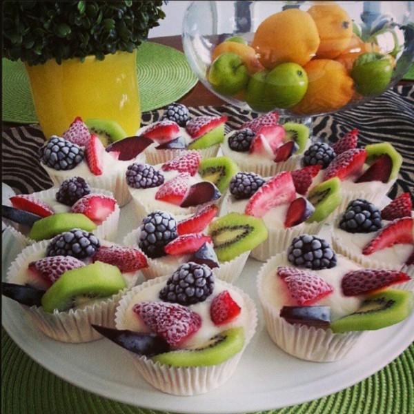 Homemade Frozen Yogurt Fruit Cups Clean Food Crush