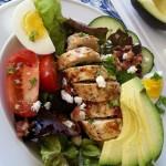 Chicken Cobb Salad and Dressing Recipe http://cleanfoodcrush.com/chicken-cobb-salad/