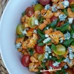 Clean Blue Buffalo Cauliflower Tomato Salad http://cleanfoodcrush.com/buffalo-cauliflower-tomato-salad/ 