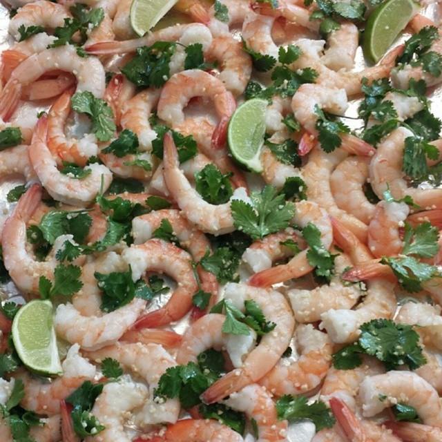 Cilantro Garlic Lime Shrimp
