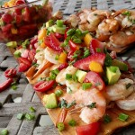 Cilantro Lime Grilled Shrimp with Strawberry-Mango Salsa