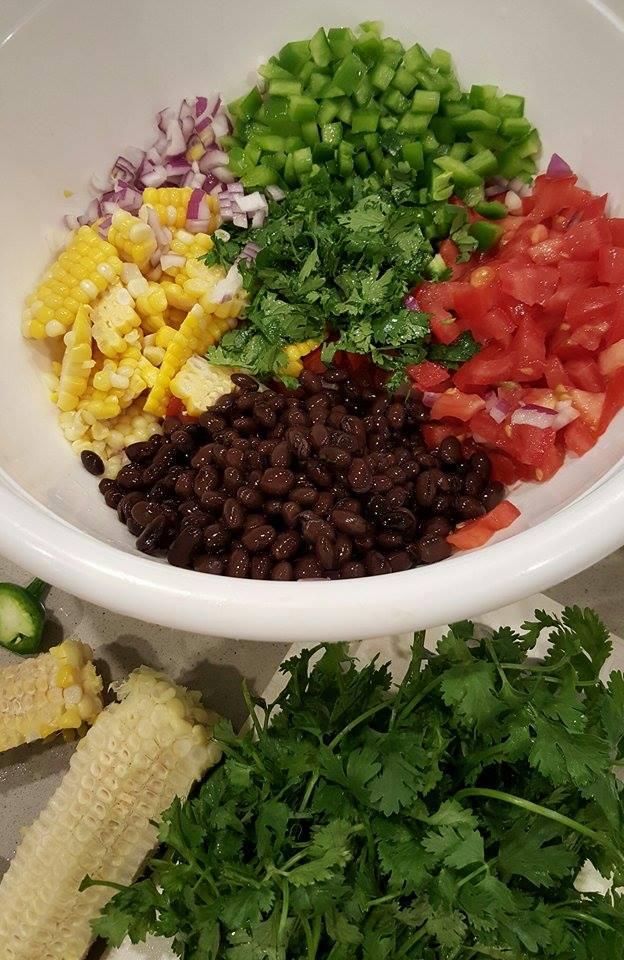 CleanFoodCrush Prep for Best Black Bean Salsa Recipe
