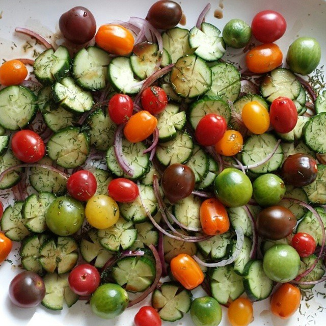 Fresh Cucumber Salad Recipe http://cleanfoodcrush.com/cucumber-salad