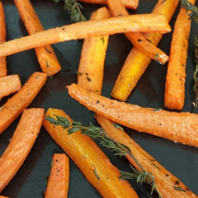 rosemary roasted carrots clean sides serves 4 roasting once again ...