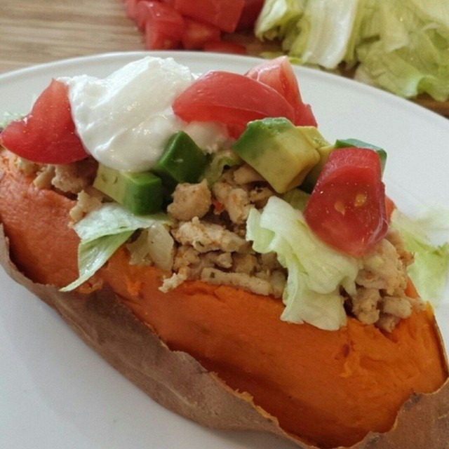 Taco Stuffed Sweet Potatoes | Clean Food Crush
