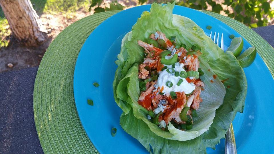Buffalo-Blue Lettuce Wraps http://cleanfoodcrush.com/buffalo-lettuce-wraps/