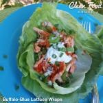 Clean Eating Buffalo-Blue Lettuce Wraps  http://cleanfoodcrush.com/buffalo-lettuce-wraps/