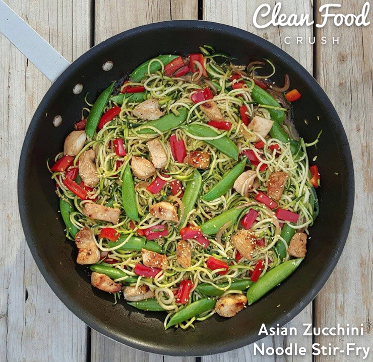 CleanFoodCrush Asian Zucchini Noodle Stir-Fry Recipe http://cleanfoodcrush.com/asian-zucchini-noodle-stir-fry