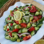 Garden Fresh Tomato, Cucumber, & Avocado Summer Salad  http://cleanfoodcrush.com/tom-cuc-avo-salad/
