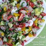 CleanFoodCrush Summer Garden Detox Salad Clean Eating http://cleanfoodcrush.com/garden-detox-salad