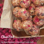 No-Bake Raspberry Chocolate Protein Balls http://cleanfoodcrush.com/raspberry-choc…-protein-balls