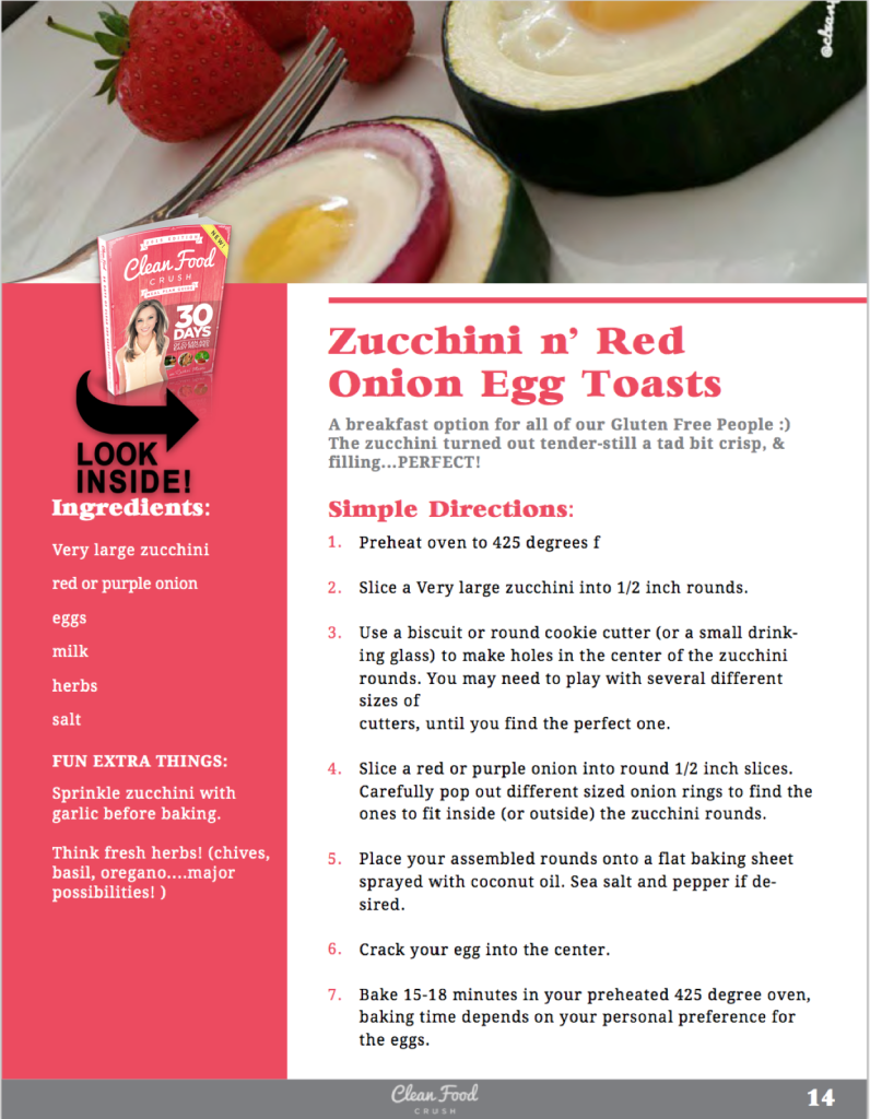 zucchini n' red onion egg toasts clean food love