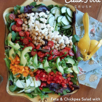 Feta Chickpea Salad with Creamy Garlic Dressing Recipe