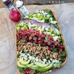 Clean Eating Autumn Salad with Raspberry Walnut Dressing http://cleanfoodcrush.com/autumn-salad/