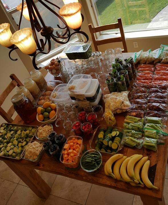Massive Food Prepping Table http://cleanfoodcrush.com/massive-food-prep