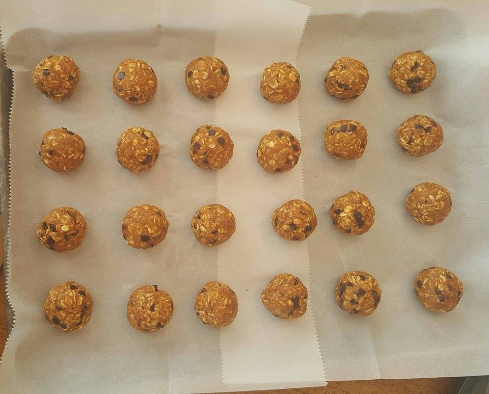 Pumpkin Chocolate Chip Energy Balls Prep http://cleanfoodcrush.com/pumpkin-energy-balls/