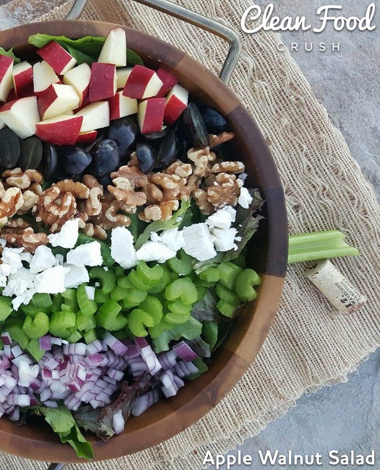 Clean Eating Apple Walnut Salad http://cleanfoodcrush.com/apple-walnut-salad/