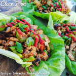 clean eating ginger sriracha turkey wraps recipe http://cleanfoodcrush.com/sriracha-turkey-lettuce-wraps/