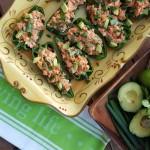 Buffalo-Lime Chicken Stuffed Anaheim Peppers Recipe Clean Eating  http://cleanfoodcrush.com/buffalo-stuffed-peppers/