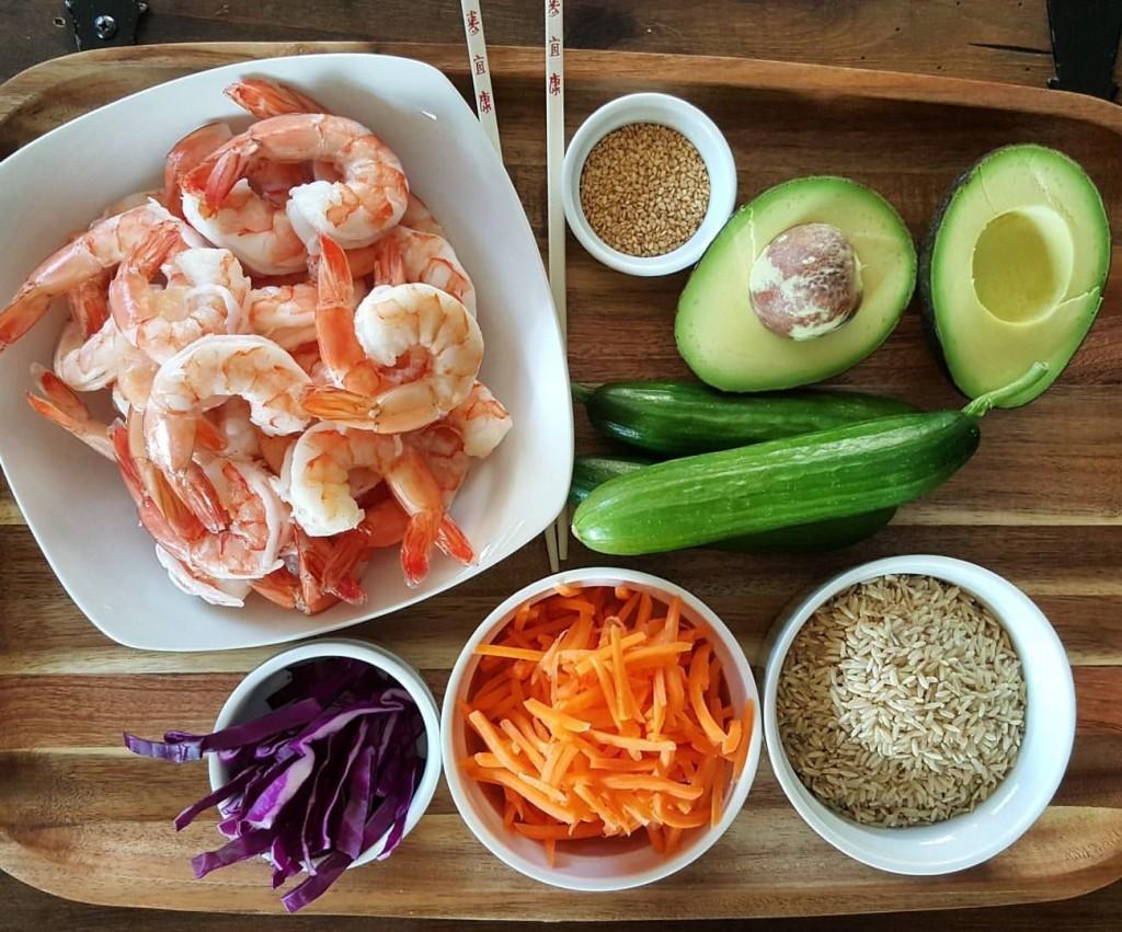 Clean Eating Sushi Bowls Prep http://cleanfoodcrush.com/shrimp-bowls