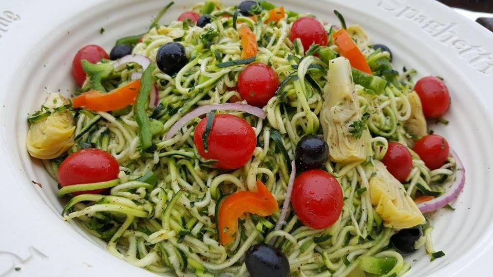 Italian Zucchini Noodle Salad http://cleanfoodcrush.com/pastaless-italian-salad/