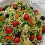 Pastaless Italian Salad Clean Eating Recipe  http://cleanfoodcrush.com/pastaless-italian-salad/