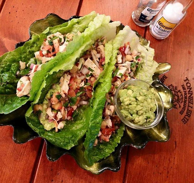 Clean Eating Chicken Salsa Lettuce Wraps http://cleanfoodcrush.com/chicken-salsa-lettuce-wraps/
