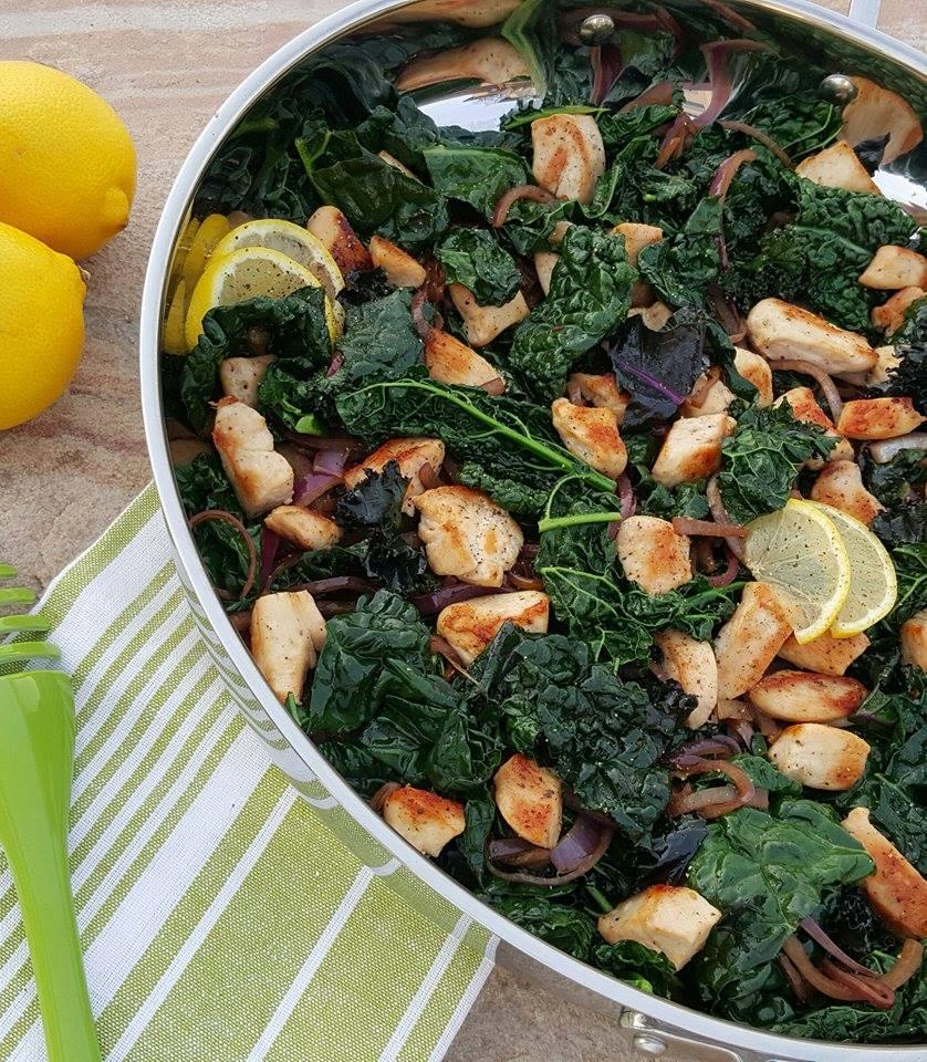 Clean Eating Lemon Pepper Chicken & Kale Stir Fry http://cleanfoodcrush.com/lemon-chicken-kale-stir-fry/