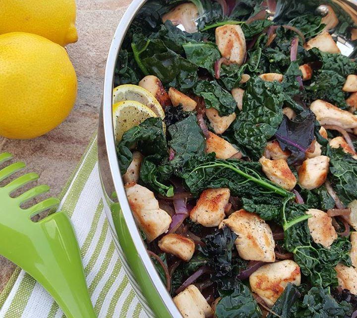 Lemon Pepper Chicken & Kale Stir Fry