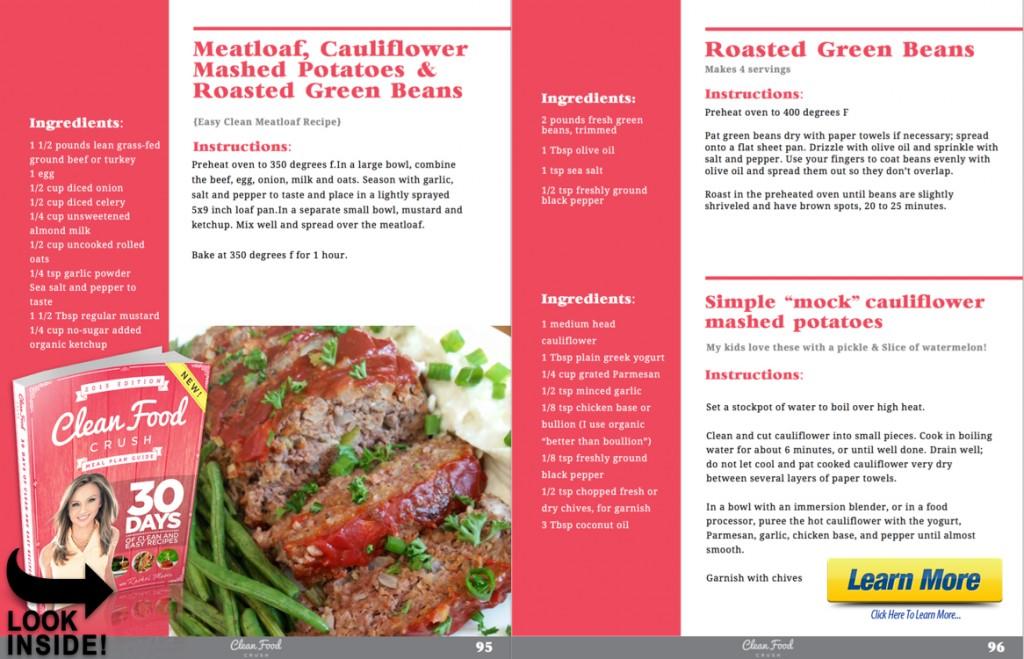 inside 30 days meatloaf dinner