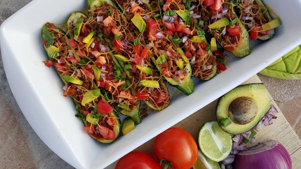 Clean Eating Beef Enchilada Zucchini Boats http://cleanfoodcrush.com/beef-enchilada-zucchini-boats