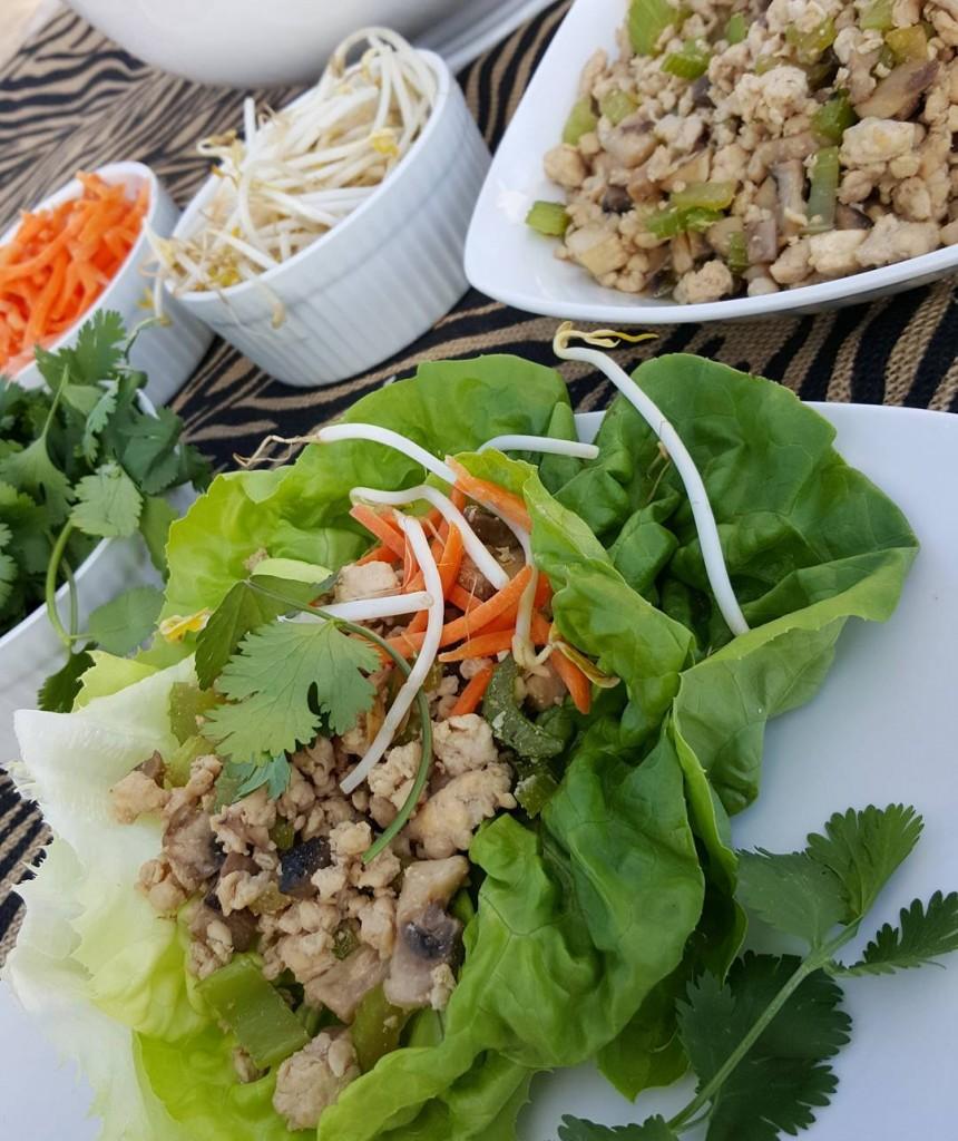 Clean Eating Turkey Lettuce Wraps Recipe http://cleanfoodcrush.com/turkey-lettuce-wraps