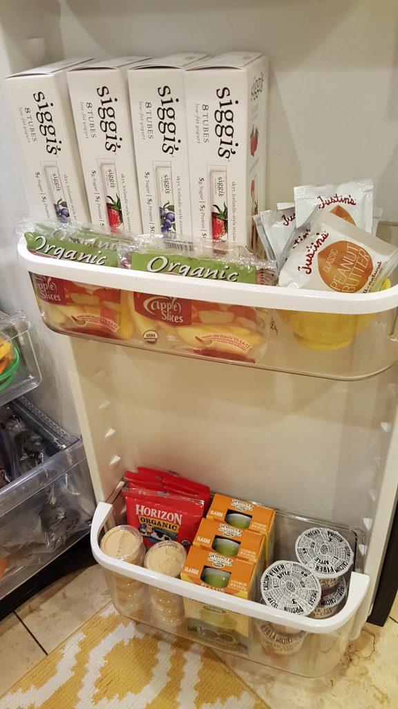 Kids Snack Fridge Door http://cleanfoodcrush.com/kids-snack-prep/