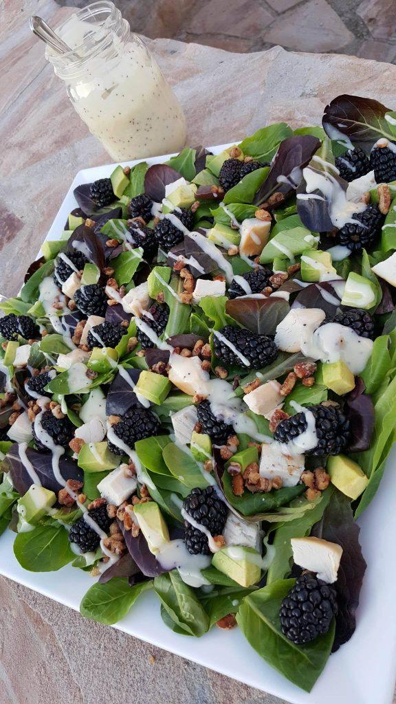Blackberry Turkey Avocado Spring Salad with Lemony Poppyseed Dressing Recipe http://cleanfoodcrush.com/blackberry-spring-salad/