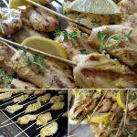 Lemon-Thyme Chicken Tenders on a Stick http://cleanfoodcrush.com/lemon-chicken-tenders/